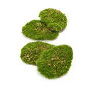 Kunst Moos Stücke HEFEI, 4 Stück, grün, 11x15x5cm