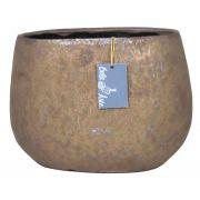 Ovaler Keramik Blumentopf PEYO, bronze, 25,5x15,5x18,5cm