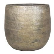 Keramiktopf AGAPE mit Maserung, gold, 27cm, Ø28cm