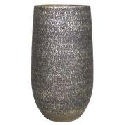 Blumenvase NAVID, Keramik, Maserung, braun, 45cm, Ø23cm