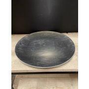 Flacher Dekoteller LALINA aus Kunststoff, silber, 2,5cm, Ø40cm